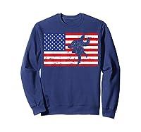 Distressed Judo Gi Usa American Flag Vintage Martial Arts T-shirt Sweatshirt Navy