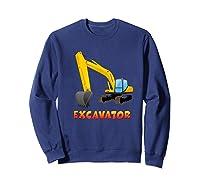 \\\' Excavator Digger T-shirt For S Sweatshirt Navy