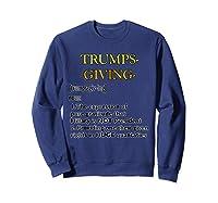Trumpsgiving Definition Funny Thanksgiving Shirts Sweatshirt Navy
