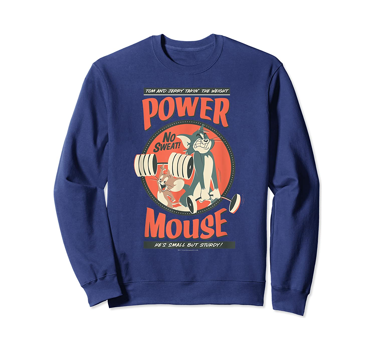 Tom And Jerry Power Mouse T-shirt Crewneck Sweater