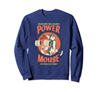 Tom And Jerry Power Mouse T-shirt Sweatshirt Navy