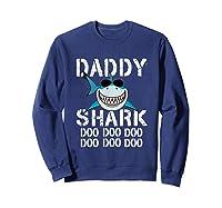 Daddy Shark Doo Doo Family Matching Shirts Sweatshirt Navy