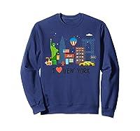 Love New York City Ny Tourist Souvenir Gift Shirts Sweatshirt Navy