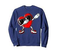 Dabbing Heart Valentines Day Love Dab Dance Gifts T-shirt Sweatshirt Navy