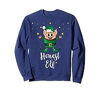 Honest Elf Xmas Elves Matching Family Group Christmas T-shirt Sweatshirt Navy