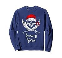 Pirate Yaya Skull And Crossbones Flag T-shirt Sweatshirt Navy