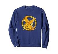 Star Twisted Mockingjay Logo Twisted Musical Shirts Sweatshirt Navy