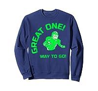 Great One! Way To Go! Football Tees T-shirt Sweatshirt Navy