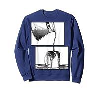 Manga Coffee Break Shirts Sweatshirt Navy