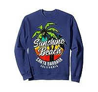 California Hawaii Surf Surfing Board Beach Vintage Retro Shirts Sweatshirt Navy