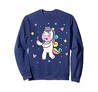 Cute Unicorn, Gift For Unicorn Lover Unicorn Lover Gift Shirts Sweatshirt Navy