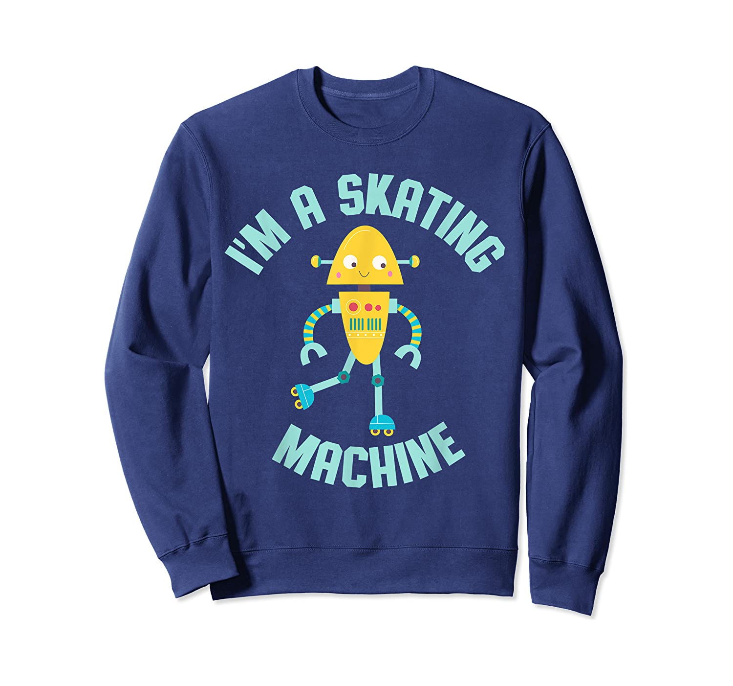Roller Skating Robot For And Girls Shirts Crewneck Sweater