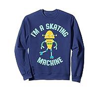 Roller Skating Robot For And Girls Shirts Sweatshirt Navy