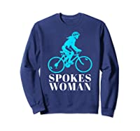 Spokes Woman Cycling Shirts Sweatshirt Navy