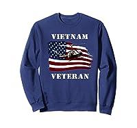 Vietnam Veterans Uh 1 Huey Helicopter American Flag Shirts Sweatshirt Navy