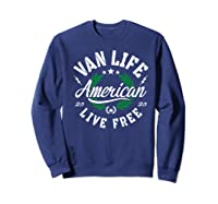 Van Dweller Clothing & Van Life Apparel - Van Life Premium T-shirt Sweatshirt Navy