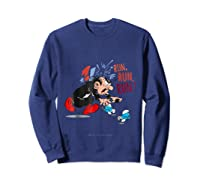 The Smurfs Run Run Run Shirts Sweatshirt Navy