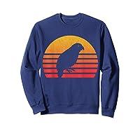 Vintage Retro Sunset Kakapo T-shirt Sweatshirt Navy