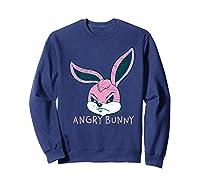 Angry Bunny Rabbit Lovers Cute Bunnies Happy Easter Day Gift Shirts Sweatshirt Navy