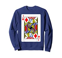 Jack Of Diamonds Playing Card Group Costume Poker Player T-shirt Sweatshirt Navy