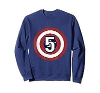 Superhero Comic Birthday T Shirt 5 Year Old Sweatshirt Navy