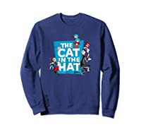 Dr Seuss The Cat In The Hat Characters Shirts Sweatshirt Navy