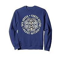 Sky Above Earth Below Peace Within Goat Yoga Cute Funny Premium T-shirt Sweatshirt Navy