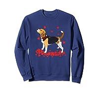 I Love My Beagle T Shirt Valentine Gift For Beagle Sweatshirt Navy