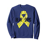 Inspirational Beat Dipg T-shirt - Dipg Awareness Sweatshirt Navy