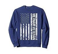 American Flag Vietnam Veteran T-shirt Sweatshirt Navy