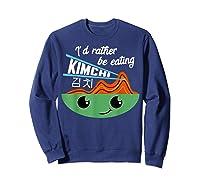 Kimchi Cute Korean Ferted Food Shirts Sweatshirt Navy