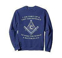 Vast Conspiracy To Make The World A Better Place Mason Shirts Sweatshirt Navy