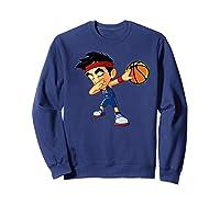 Dabbing Basketball Boy Player Australia Flag Funny Dab Dance Premium T-shirt Sweatshirt Navy