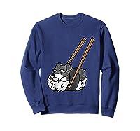 Schnauzer Sushi Funny Dog Gif Shirts Sweatshirt Navy