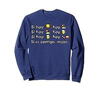 Si Hay Playa Hay Alcohol - Callaita Trap Bunny Emoji T-shirt T-shirt Sweatshirt Navy