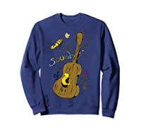 The Sound Of Guitar Tree Nature Shirts Sweatshirt Navy