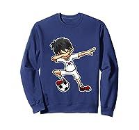 Dabbing Soccer Boy South Korea, Korean Flag Shirts Sweatshirt Navy