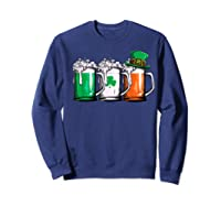 Irish Beer Ireland Flag St Patricks Day Leprechaun Shirts Sweatshirt Navy