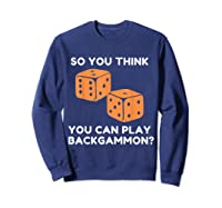 Best Ever Funny Backgammon Player Tee Board Game T Shirt Sweatshirt Navy