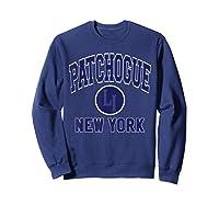 Patchogue Li Varsity Style Navy Blue Print Shirts Sweatshirt Navy