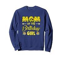 Mom Of The Birthday Girl Mom Sunflower Gifts Shirts Sweatshirt Navy