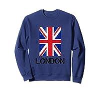 London, England Union Jack Shirts Sweatshirt Navy