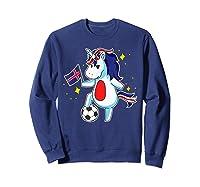 Soccer Unicorn Iceland Design Iceland Football Gift Shirts Sweatshirt Navy