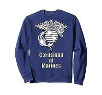 Back Design 8404 Fmf Corpsman Military Veteran Shirts Sweatshirt Navy