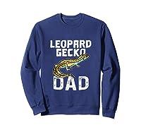 Funny Leopard Gecko Graphic Lizard Lover Reptile Dad Gift T-shirt Sweatshirt Navy