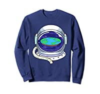 Flat Earth Map Design For A Flat Earth Society Shirts Sweatshirt Navy