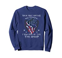 Your First Mistake Was Thinking I Was One Of The Sheep Skull Premium T-shirt Sweatshirt Navy
