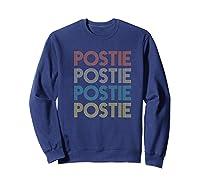 Retro Postie Mailman Letter Carrier Postal Service Shirts Sweatshirt Navy