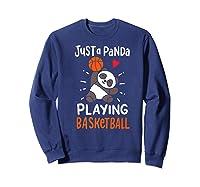 Basketball Panda Premium T-shirt Sweatshirt Navy