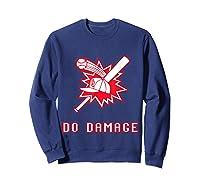 Done Damage Red Boston Championship Baseball Fan Awesome T-shirt Sweatshirt Navy